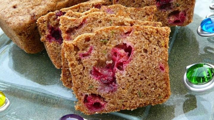 Citrus Cranberry Zucchini Bread