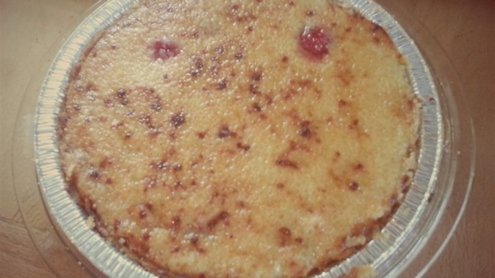 Strawberry Creme Brulee Pie