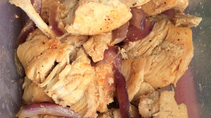 Baked Chicken and Onions