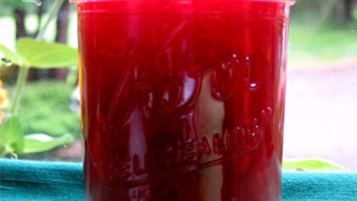 Rhubarb Cherry Jelly