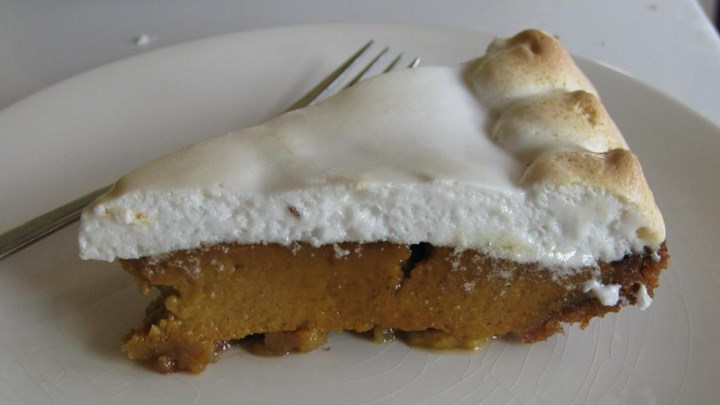 Sweet Potato Pie with Marshmallow Meringue Topping