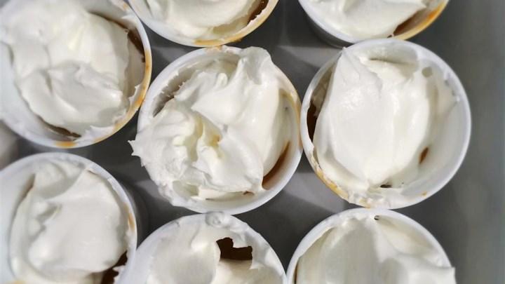 Caramel Apple Martini Pudding Shots