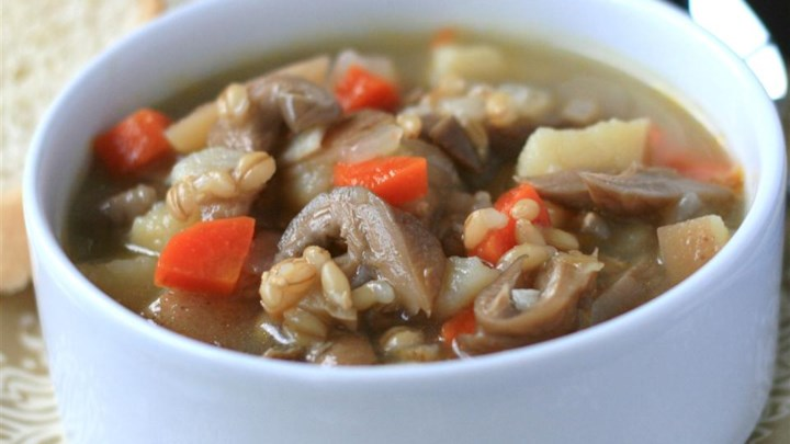 Dad's Mushroom and Barley Soup