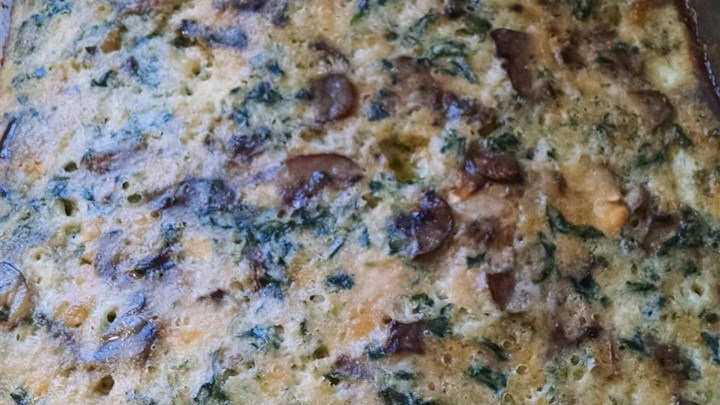Spinach and Mushroom Egg Casserole