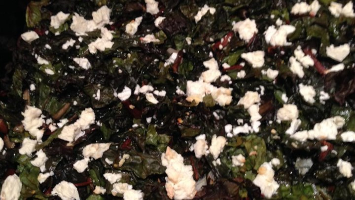 Roasted Swiss Chard with Feta