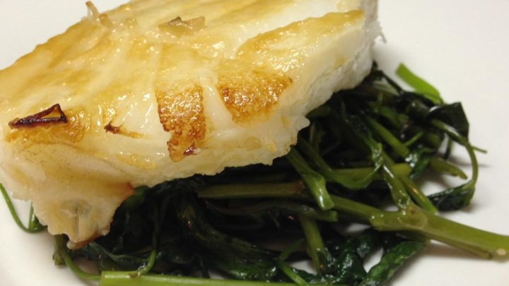 Grilled Sea Bass With Miso-Mustard Sauce Recipe — Dishmaps