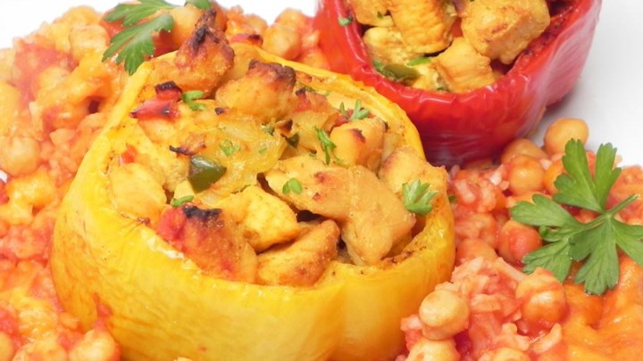 Mexican Chicken Stuffed Peppers