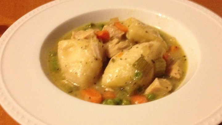 Healthier Slow Cooker Chicken and Dumplings