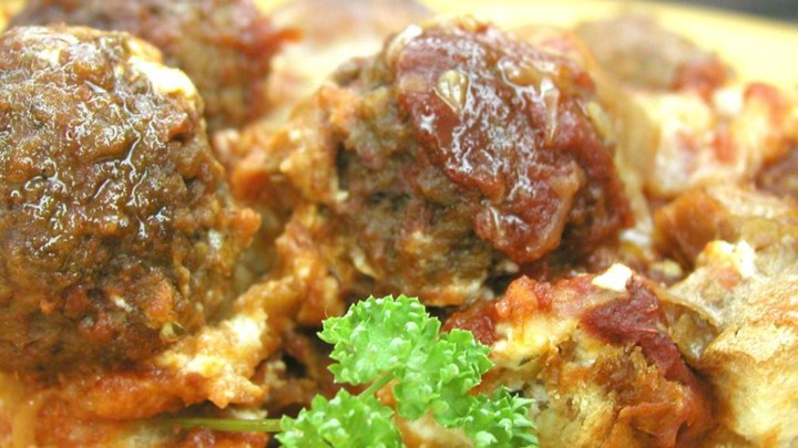 Italian Meatball Sandwich Casserole