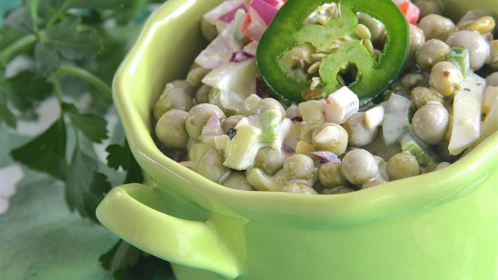 Super Spicy Pea Salad