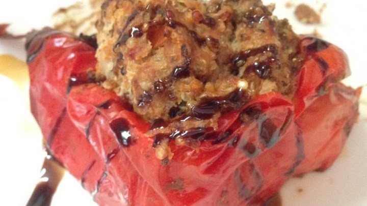 Millet and Beef Stuffed Peppers