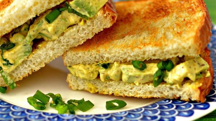 Egg-Style Avocado Salad Sandwiches