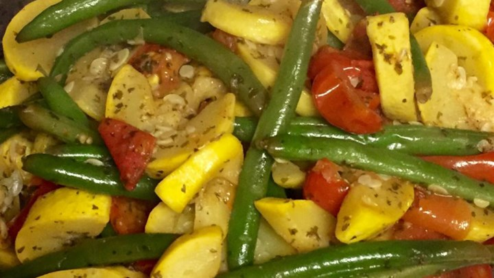 Squash and Green Bean Saute Side Dish