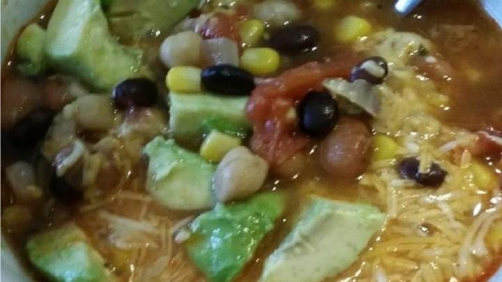 Spicy Tortilla Bean Soup