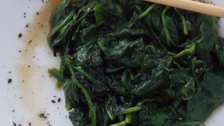 Japanese Spinach with Sweet Sesame Seeds