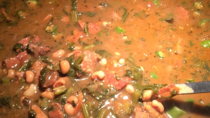 Black-Eyed Pea, Pork, and Mustard Green Gumbo Recipe - Allrecipes.com