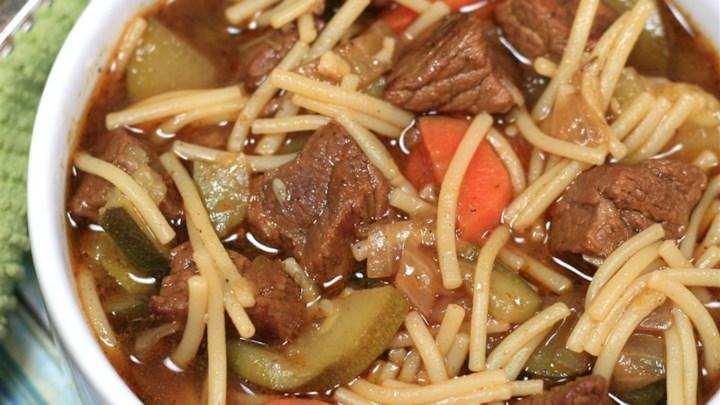 Peruvian Beef Noodle Soup (Sopa Criolla)