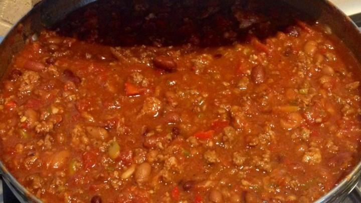 Healthier Boilermaker Tailgate Chili