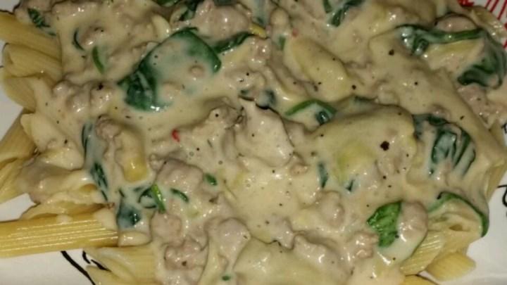 Artichoke Spinach Pasta Sauce