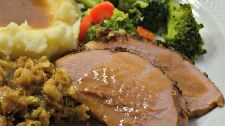 Spice Rubbed Pork Roast in Beer Gravy Recipe - Allrecipes.com