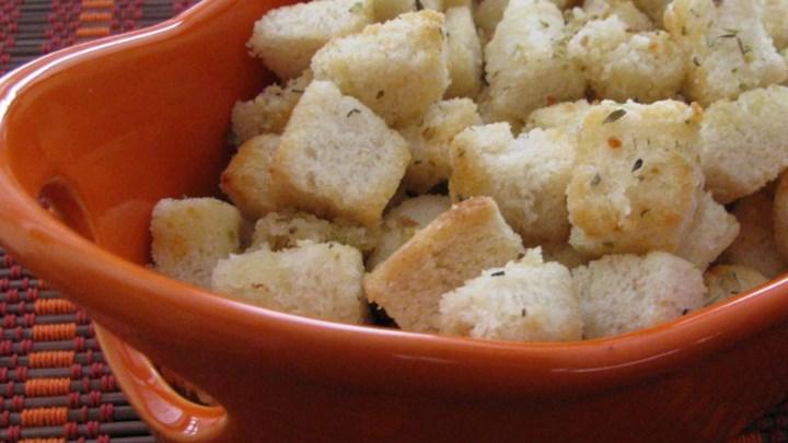 Garlic-Parmesan Croutons