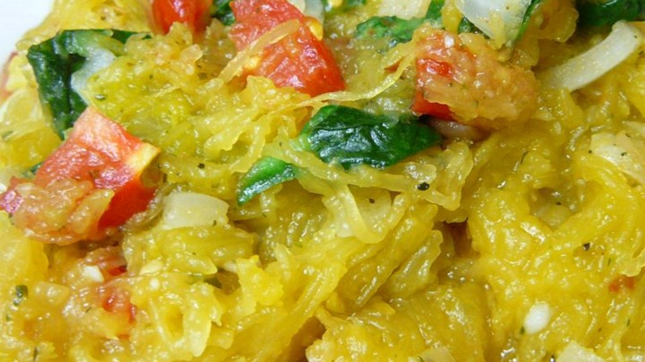 Pesto Spaghetti Squash