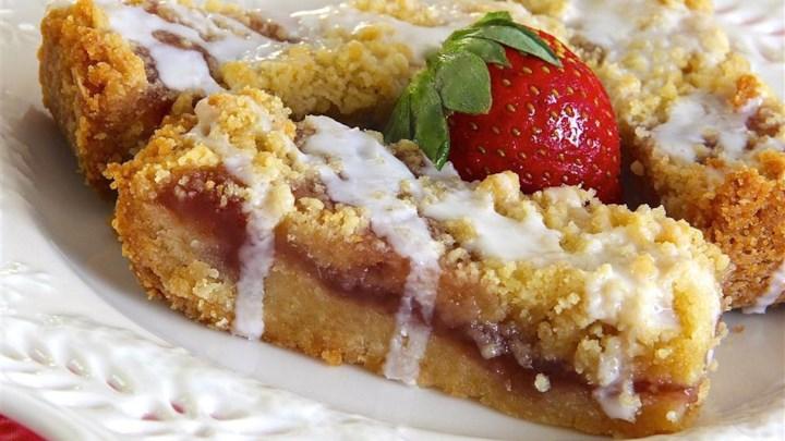 Strawberry Jam Marzipan Bars