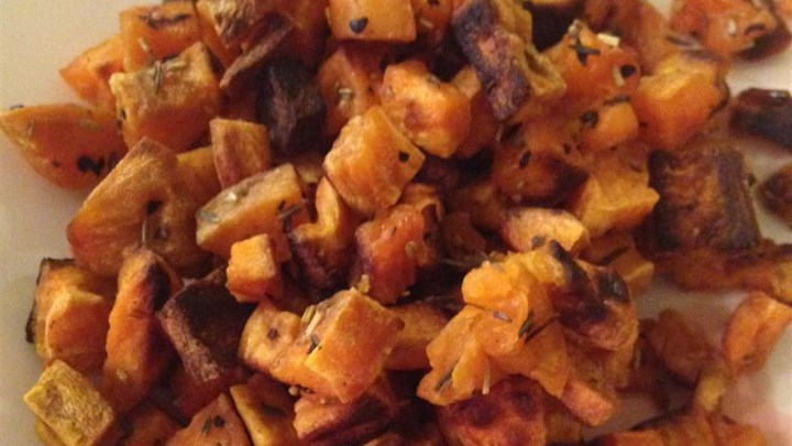 Low-Cal Roasted Sweet Potato Bites