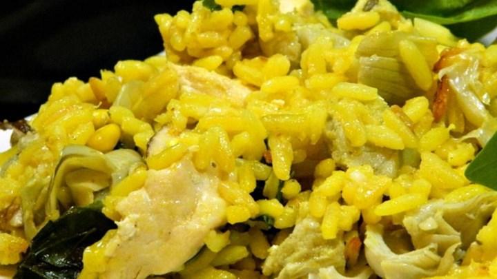 Warm Rice, Artichoke, Spinach, and Chicken Salad Recipe - Allrecipes ...