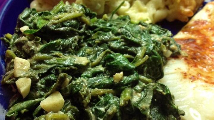 Tahini Spinach
