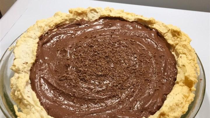 German Chocolate Angel Pie I