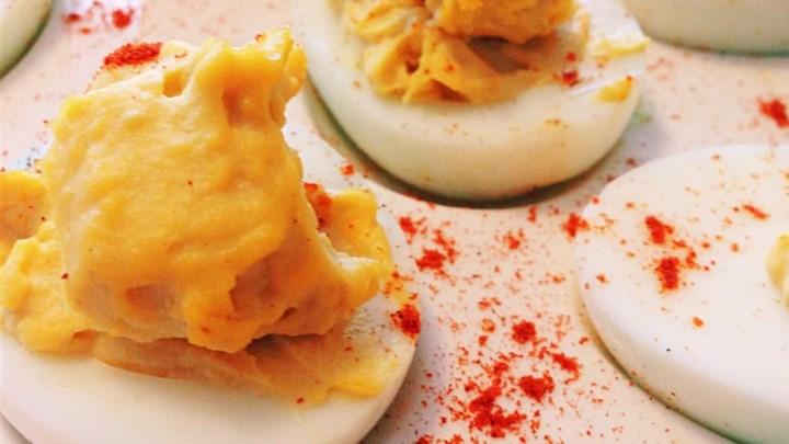 J's Horseradish Deviled Eggs