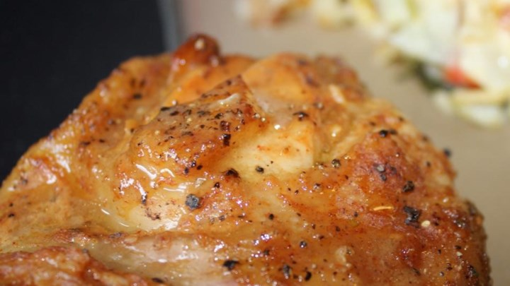 Sweet Hot Mustard Chicken Thighs