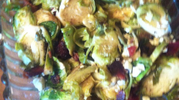 Bacon and Blue Brussels Sprouts
