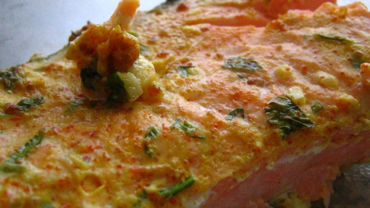 Yogurt-Marinated Salmon Fillets (Dahi Machhali Masaledar)