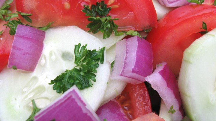 Cucumber, Tomato, and Red Onion Salad