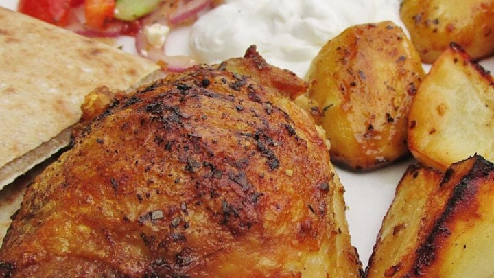 Greek Lemon Chicken and Potato Bake