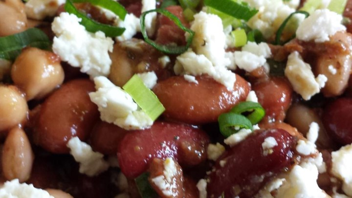 Three Bean Salad with Feta Cheese