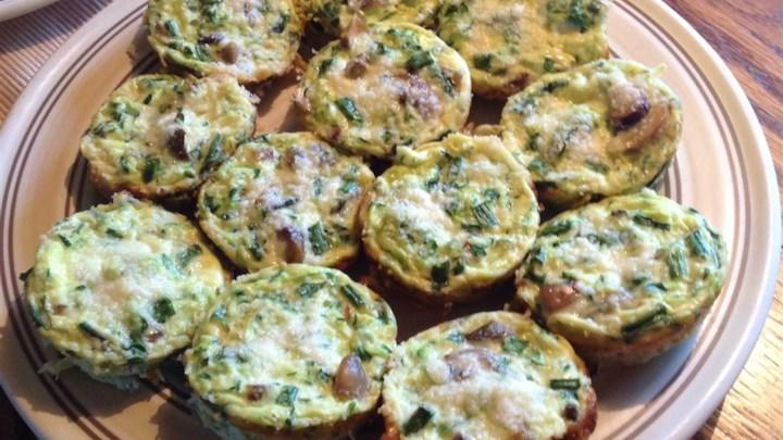 Zucchini Scallion Frittata Cups