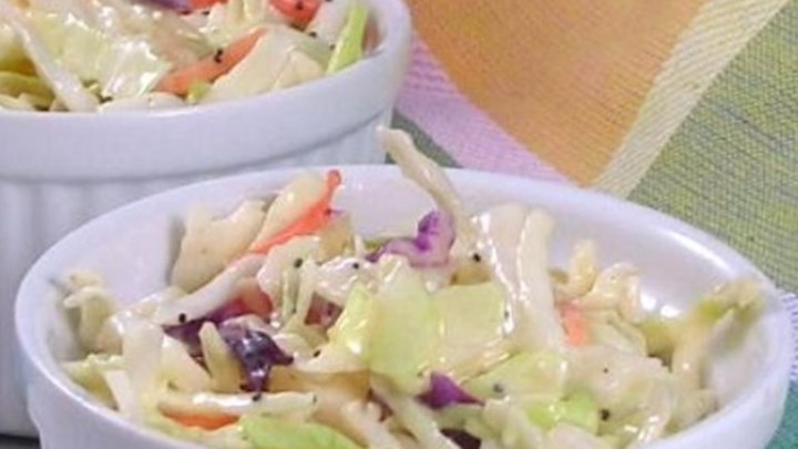 Tri-Color Slaw With Lime Dressing Recipe — Dishmaps