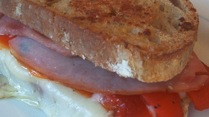 Grilled Roasted Red Pepper and Ham Sandwich Recipe - Allrecipes.com