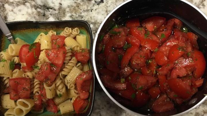 Light Southwestern Tomato Pasta