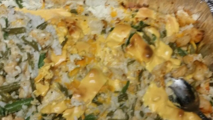 Chicken, Rice, and Green Bean Casserole