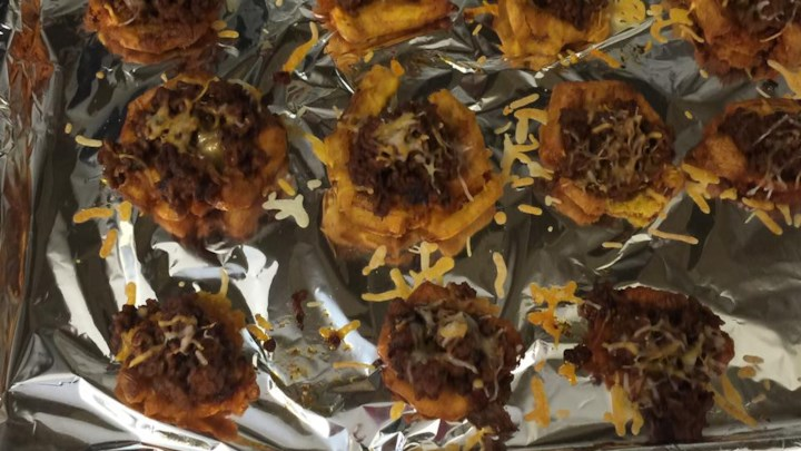 Tostones Rellenos (Stuffed Plantain Cups)