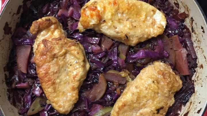 Oktoberfest Chicken and Red Cabbage