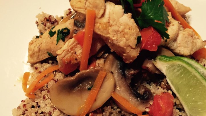 Thai Chicken Quinoa and Veggie Delight