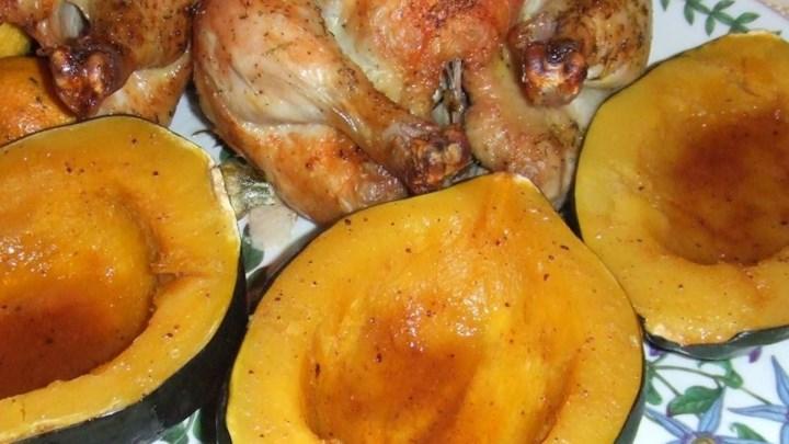 Orange Baked Acorn Squash