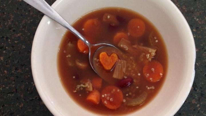 Spicy Vegan Lentil Quinoa Soup