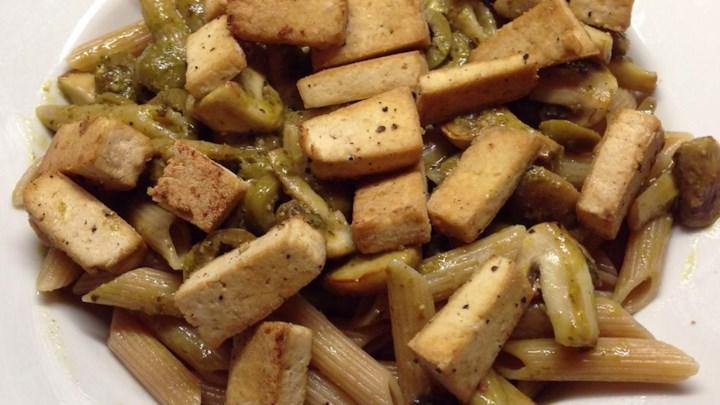 Pesto Tofu Pasta