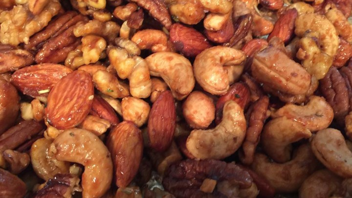 Rosemary and Brown Sugar Mixed Nuts